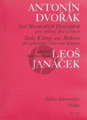 Dvorak 6 Klange aus Mahren SATB-Klavier (Janacek) (Tschech./Deutsch.)