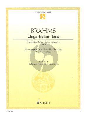 Brahms Ungarischer Tanz nr.5 Klavier 4 Hd (Monika Twelsiek)
