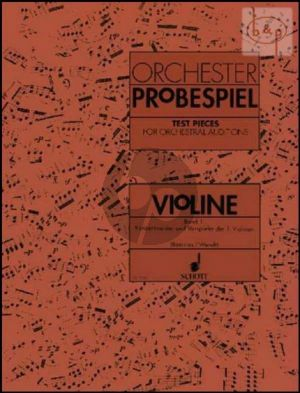 Orchester Probespiel (Test Pieces for Orchestral Auditions) Vol.1 Violin