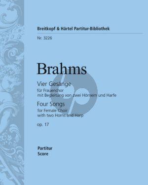 Brahms 4 Gesange op.17 Frauenchor-2 Horner-Harfe Partitur