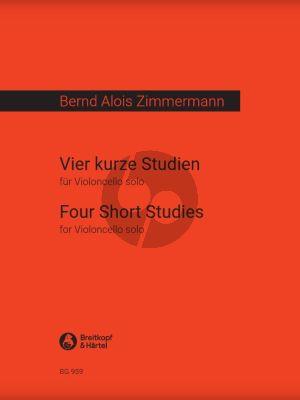 Zimmermann 4 Kurze Studien (4 Short Studies) Violoncello Solo