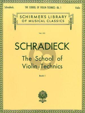 Schradieck School of Violin Technics Vol. 1