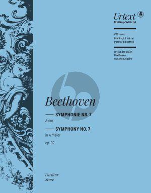 Beethoven Symphonie No. 7 A-dur Op. 92 Partitur (Ernst Herttrich)