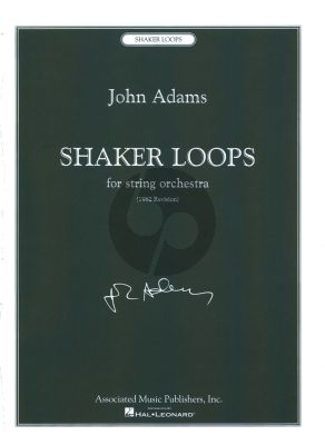 Adams Shaker Loops String Orchestra Score (Revised Edition 1982)