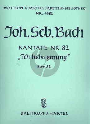 Bach Kantate BWV 82 Ich habe genung Soli-Chor-Orchester (Partitur)