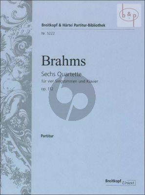 6 Quartette Op.112 SATB-Piano