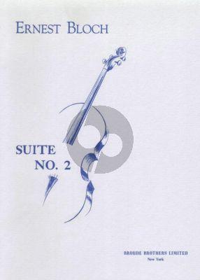 Bloch Suite No.2 Cello solo (1956)