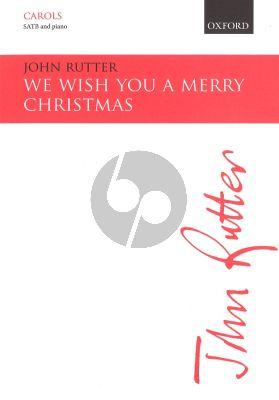 John Rutter We wish you a merry Christmas SATB-Piano