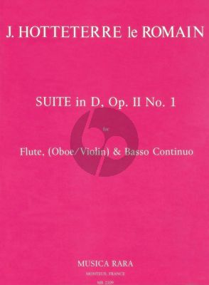 Hottetrre Suite D-major Op. 2 No. 1 Flute (Oboe / Violin) and Bc (Charles W. Smith)