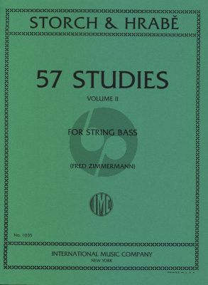 Storch-Hrabe 57 Studies Vol.2 for String Bass (edited by Fred Zimmermann)