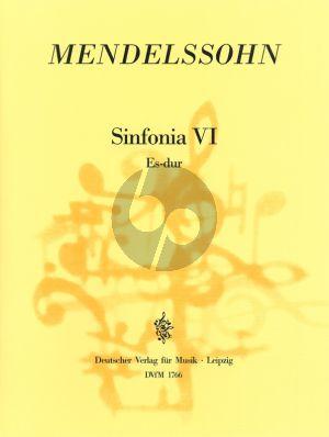 Sinfonia No. 6 Es-dur Streicher Partitur