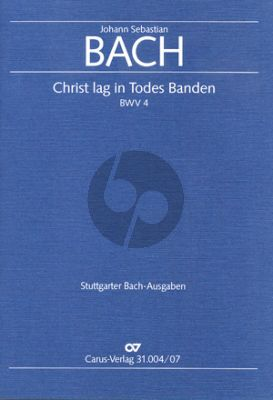 Bach Kantate BWV 4 Christ lag in Todes Banden Soli-Chor-Orch.) Studienpart.