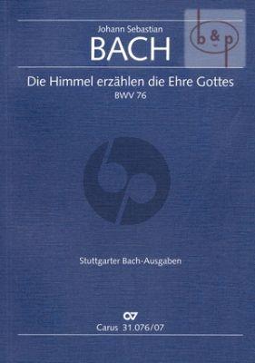 Kantate BWV 76 Die Himmel erzahlen die Ehre Gottes