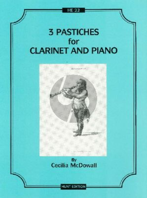 McDowall 3 Pastiches Clarinet-Piano