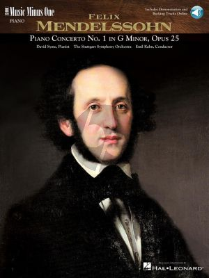 Mendelssohn Piano Concerto No.1 G-Minor Op.25 (Book with Audio online) (MMO)