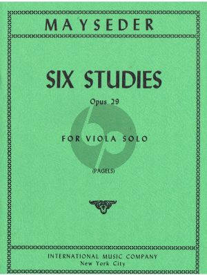 Mayseder 6 Etudes Op. 29 for Viola (Ludwig Pagels)
