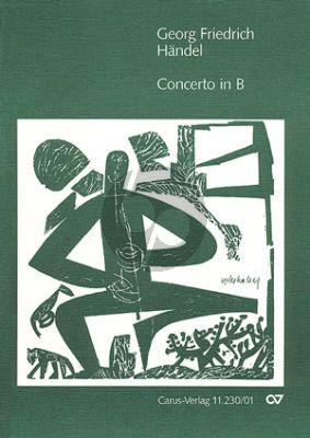 Handel Concerto B-dur Sopranino Blockflöte-2 Violinen-Bc  KA