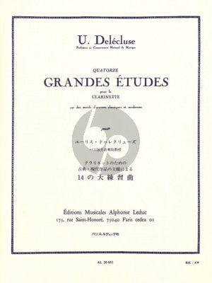 Delecuse 14 Grandes Etudes pour Clarinette