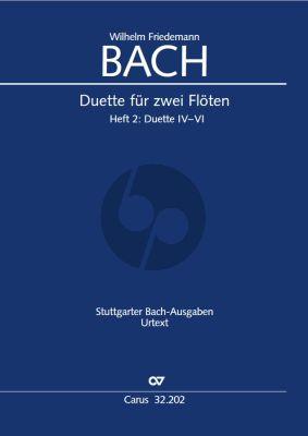 Bach Duette fur 2 Floten Vol.2 No.4-6 (Partitur) (Herausgegeben Wollny Peter)