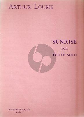 Lourie Sunrise for Flute solo (1956)