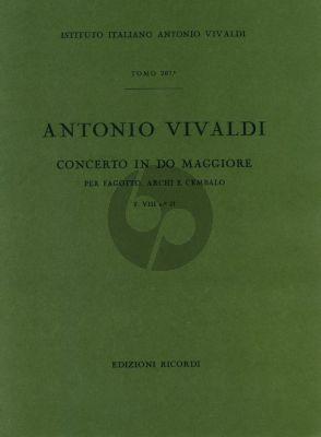 Vivaldi Concerto C major F.VIII n.21 bassoon-strings-cembalo