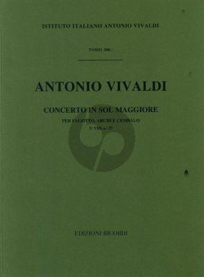Vivaldi Concerto G major F.VIII n.37 bassoon-strings-cembalo
