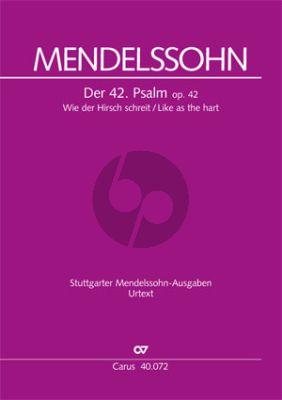 """Mendelssohn Psalm 42 Op.42 """"Wie der Hirsch schreit nach frischem Wasser"""" (Soli-Choir-Orch.) (Full Score) (edited by Gunter Graulich)"""