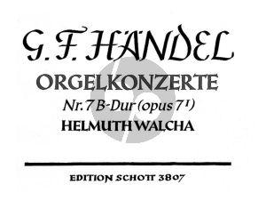 Orgelkonzert No. 7 Op. 7 No. 1 HWV 306 Orgelauszug