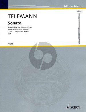 Telemann Sonate G-dur TWV 41:G9 Flote und Bc (aus Essercizzi Musici) (Herausgegeben von Hugo Ruf)