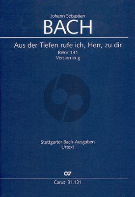 Bach Kantate BWV131 Aus der Tiefen rufe ich, Herr, zu dir (Fassung g-moll) Soli-Chor-Orch. (Partitur) (Ulrich Leisinger)