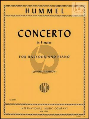 Concerto F-major (Bassoon-Orch.) (piano red.)