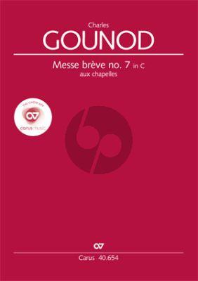 Messe Breve No.7 Aux Chapelles C-dur (Soli[TB/SA]-SATB-Orgel)