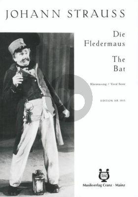 Strauss Die Fledermaus (Operette 3 Akten) Klavierauszug