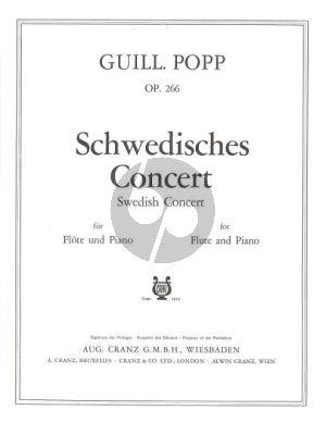 Popp Schwedisches Konzert Op.266 Flöte und Klavier