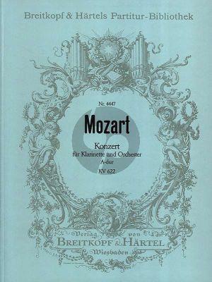 Mozart Konzert A-Dur KV 622 Klarintette in A und Orchester Partitur