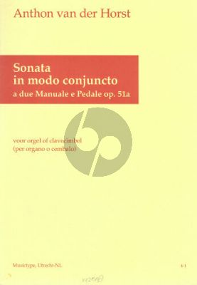 Horst Sonata in modo conjuncto Op. 51a Orgel (Clavecimbel) (2 man.ped.)