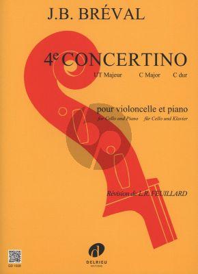 Breval Concertino No.4 C-major Violoncelle et Piano (Arrangement de Pierre Ruysen) (Revision de L.R. Feuillard)