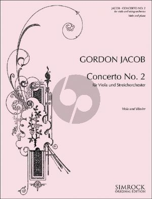 Jacob Concerto No. 2 G-major Viola and String Orchestra (piano reduction)