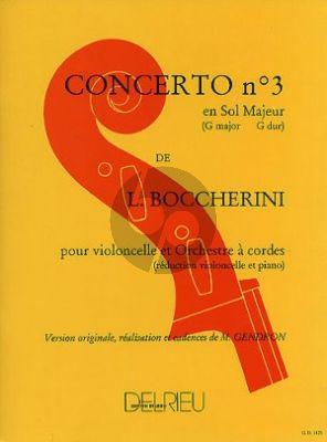 Boccherini Concerto No.3 G-majeur Violoncelle-Piano (Gendron) (with Cadenzas)