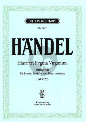 Haec est Regina HWV 235 Sopran-Streicher Klavierauszug