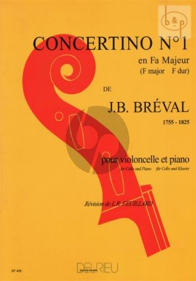 Breval Concertino No.1 F-major Violoncello and Piano (Feuillard)