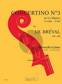 Breval Concertino No.3 A-major Violoncello-Piano (Feuillard)