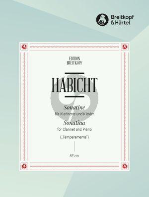 """Habicht Sonatine """"Temperamente"""" Klarinette und Klavier"""