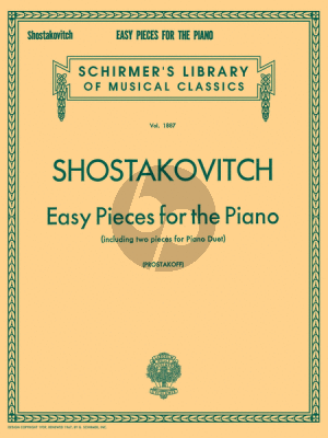 Shostakovich Easy Pieces for Piano (including 2 Pieces for Piano duett)