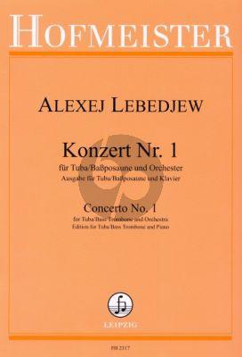 Lebedjew Konzert No.1 Tuba oder Bassposaune-Orchester (KA)