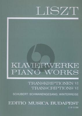 Liszt Transcriptions Vol.6 (Complete Works Serie II Vol.21) (Schubert Winterreise a.o.)