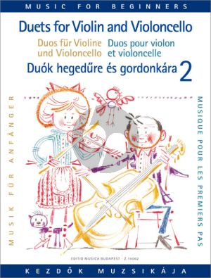 Duets for Violin and Violoncello for Beginners Vol. 2 (Pejtsik-Vigh)