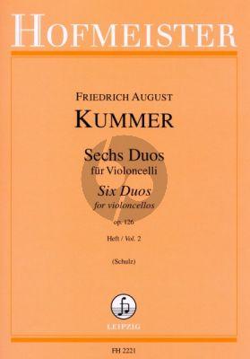 Kummer 6 Duos Op.126 Vol.2 2 Violoncellos (Walter Schulz)