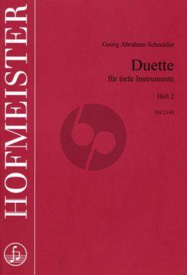 Schneider Duette Vol.2 2 Tiefe Instrumente (Spielpart.) (Pischkitl-Kraehnke)