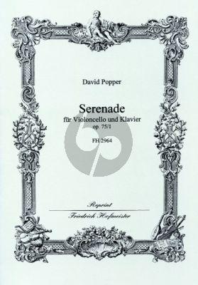 Popper Serenade Op.75 No.1 Violoncello-Klavier